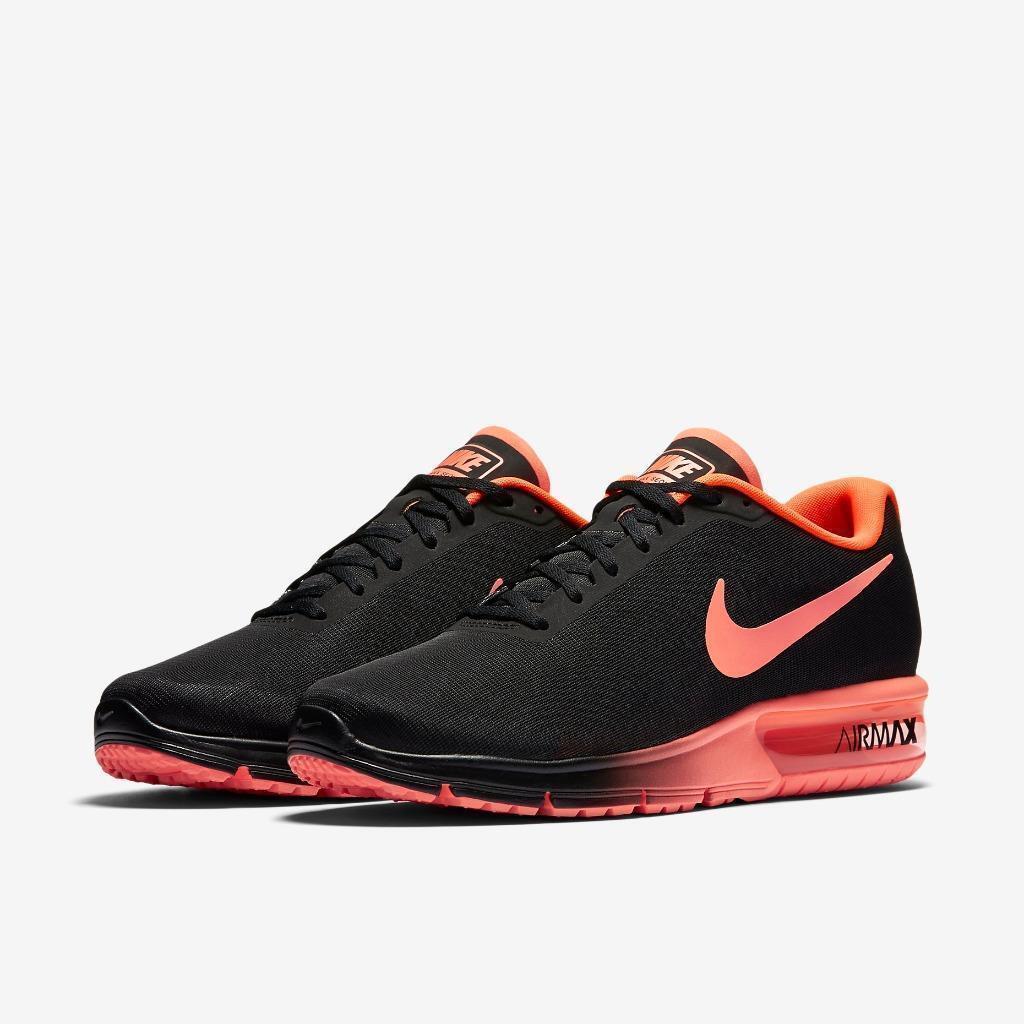NIB Men's Air Max Sequent  Running Shoes 719912 012 Black Crimson