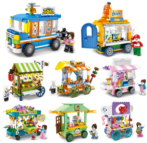 Baukaesten-Sembo-Verkauf-Autohaus-Gebaeude-Figur-Spielzeug-Geschenk-Modell-Kind