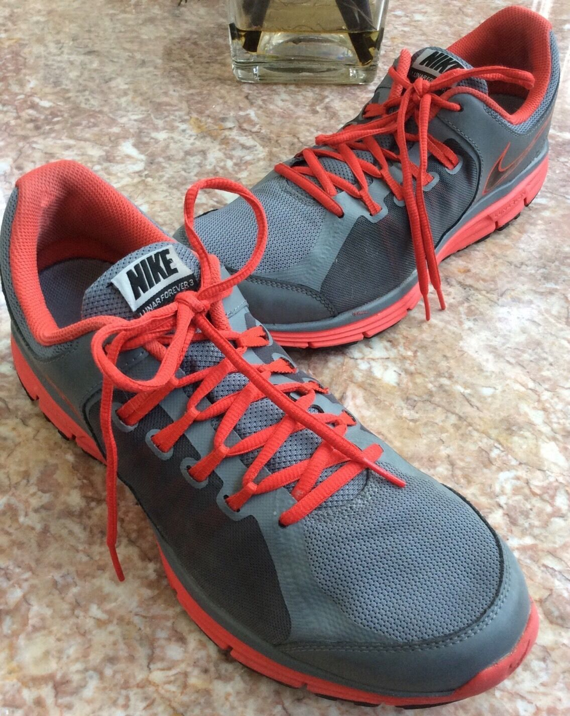 NIKE Lunar Forever 3 Grey Light Crimson Men Running Price reduction Special limited time