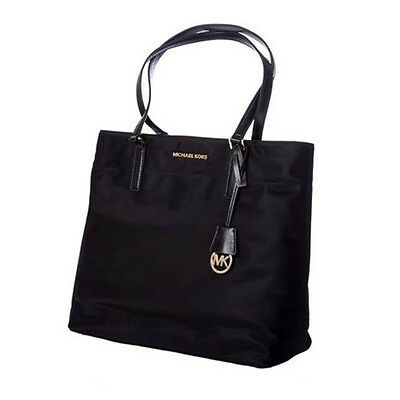 Michael Kors Bag 30T5GOGT3C MK Morgan Large Nylon Tote Black  Agsbeagle