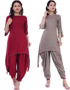 Stylish Cut Maroon Dhoti Kurta For Women Girls Indian Designer Fashion Designs Ebay