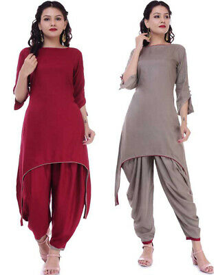 Stylish Cut Maroon Dhoti Kurta For Women Girls Indian Designer Fashion Designs Ebay