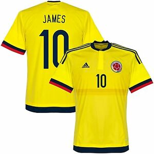 a8ad76a3c Image is loading ADIDAS-COLOMBIA-JAMES-RODRIGUEZ-HOME-JERSEY-2015-16