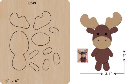 New Cute reindeer  Wooden die fit Big Shot  Scrapbooking C-249