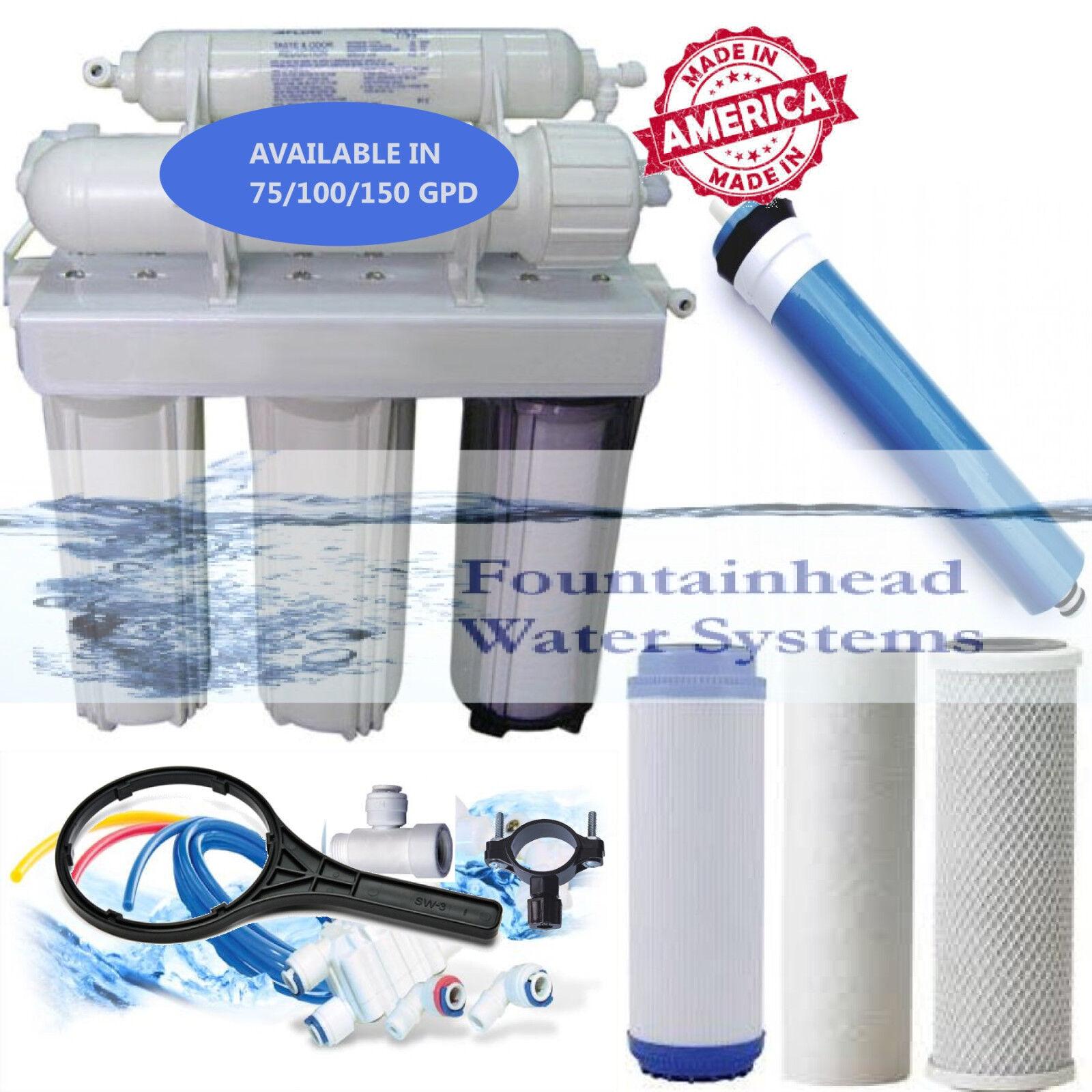 Fountainhead osmose inverse filtre à eau Core System 100 Gotham Police Department. Made in the U.S.A