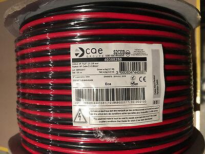 fil double 2X0,50mm² rouge//noir câble souple haut-parleur lampes coupe de 1a5M