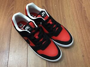 official photos 67b50 d953c Image is loading NIKE-SB-DELTA-FORCE-Mens-Red-Black-Leather-