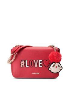 Caricamento dell immagine in corso Love-Moschino-borsa-a-tracolla-donna-Pu -rosso- 7bb374e30f3