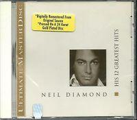 Diamond, Neil His 12 Greatest Hits MCA 24 Karat Gold CD Neu OVP Sealed OOP