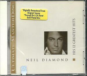 Diamond-Neil-His-12-Greatest-Hits-MCA-24-Karat-Gold-CD-Neu-OVP-Sealed-OOP