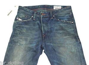 NEUF DIESEL DARRON 75 L Jeans 28X32 0075 L Regular Slim Fit Tapered Leg