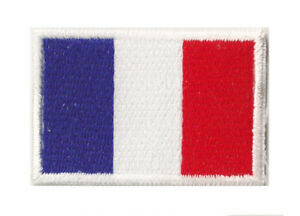 Patch-petit-patche-ecusson-drapeau-Francais-thermocollant-FRANCE-45x30-mm