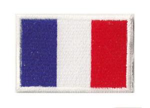 Patch petit patche écusson drapeau Français thermocollant FRANCE 45x30 mm