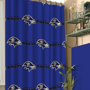 Details About Nfl Shower Curtain Sports Footbal Team Logo Bathroom Accessory Pick Your
