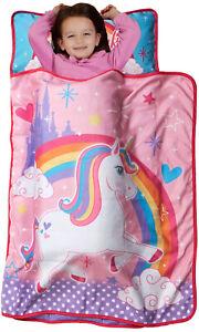 Preschool Nap Mat Toddler Girl Sleeping Bag Roll Up