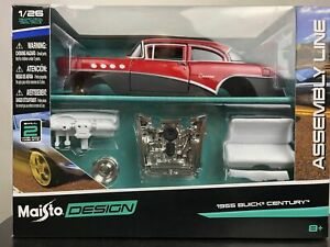 Buick-Century-1955-1-24-Kit-de-Coche-Automovil-Modelo-Diecast-modelos-de-coches-de-fundicion-Ninos