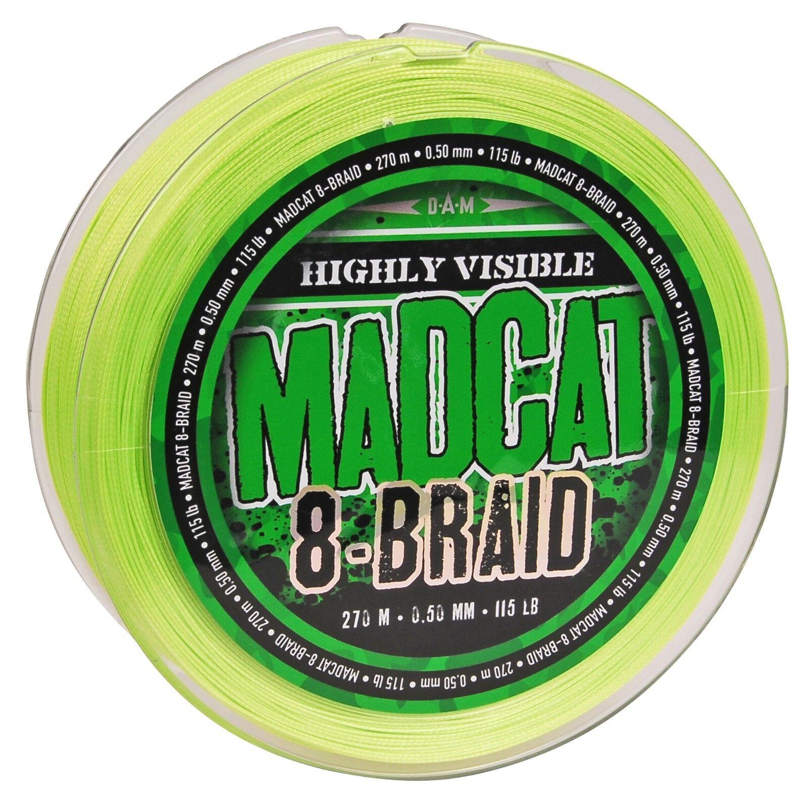 DAM MADCAT® 8-Braid - 8-fach geflochtene Wallerschnur - 270m-Grundpreis:  /m