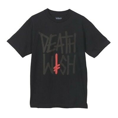 DEATHWISH DEATHSTACK BLACK YELLOW T-SHIRT S M NEW SKATE SKATEBOARD BAKER SALE