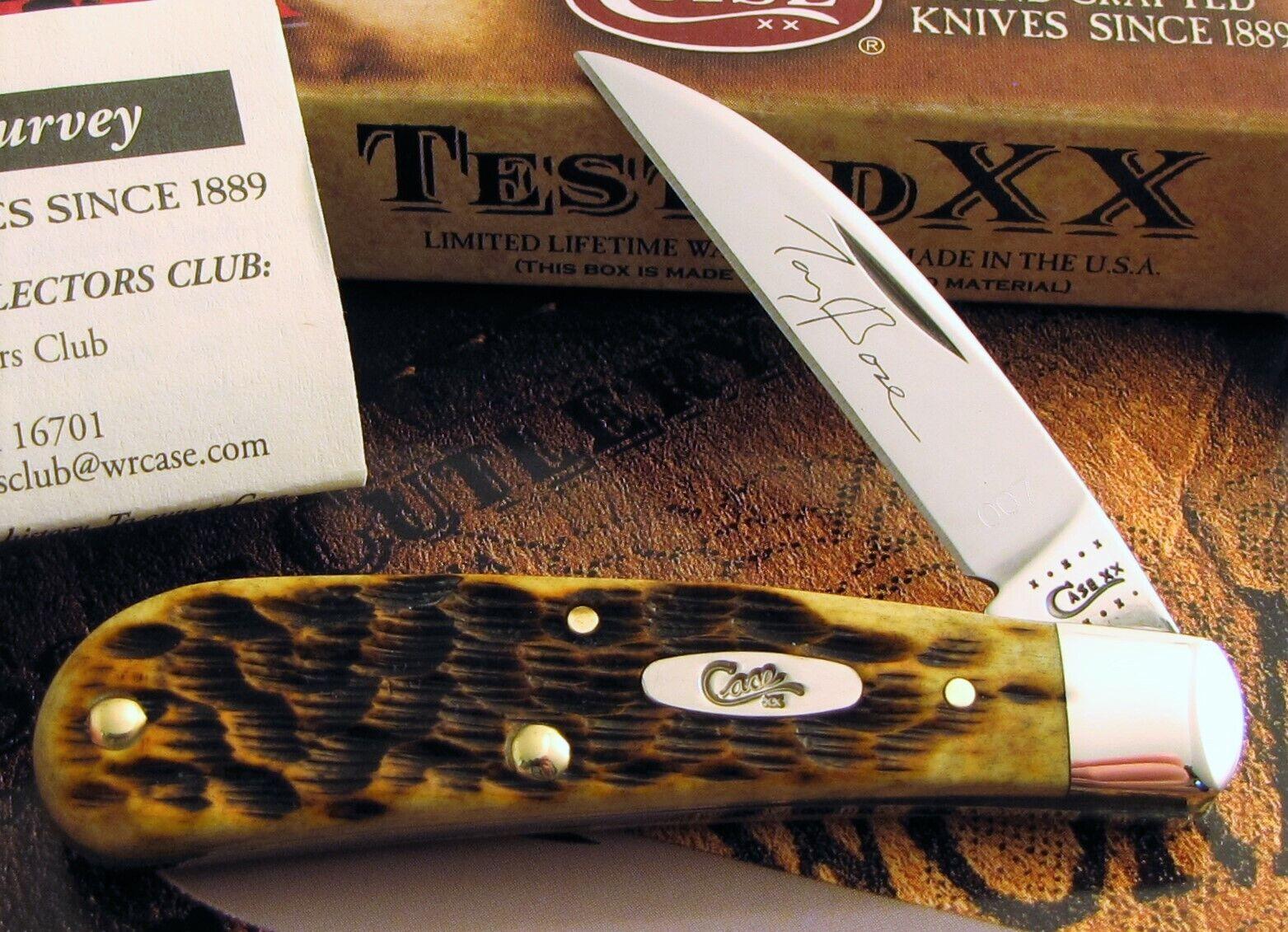 Case Sway Back Knife 2010 SFO Tony Bose Event Knife MIB & Deluxe COA 1 Of 300 NR