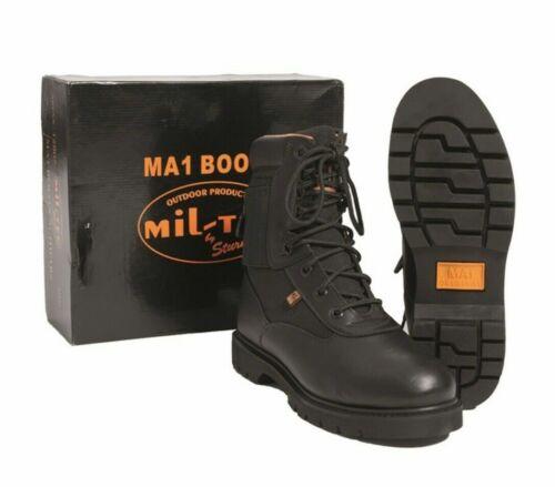 NEU US Tactical MA1 Boots schwarz Einsatzstiefel Echtleder Armee Springerstiefel