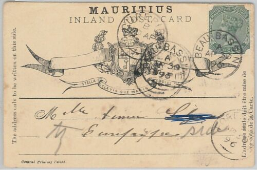 51902 MAURITIUS FORMULAR STATIONERY CARD Higgings & Gage # 3 1896