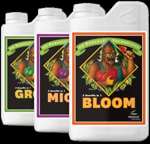Advanced Nutrients pH Perfect Grow Micro Bloom  Base Nutrient Bundle 1L