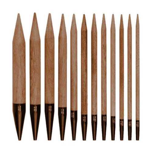 """:Driftwood UMBER Interchangeable Tips 3.5/"""": 7.5 cm 4 US 3.50 mm Lykke"""