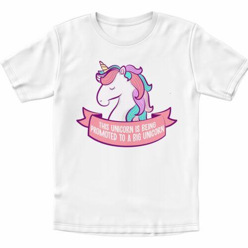 Promu Grand Licorne Mignon Filles Enfants T-shirt grande soeur T Shirt Cadeau