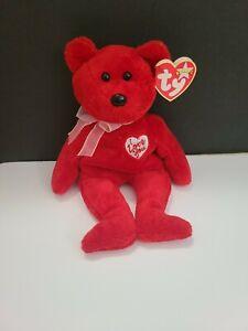"TY Beanie Babies ""Secret I love you"" USA 8"" with tags Teddy Bear Valentine day"