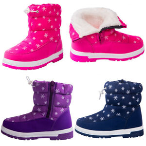 Snow-Boot-Girl-Boy-Little-Kid-Winter-Waterproof-Outdoor-Weather-Fur-Lined-Winter