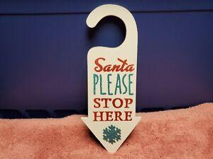 "Ashland Christmas Door Hanging Sign. Christmas Wall Decor Door Sign 13.25"" NWT"