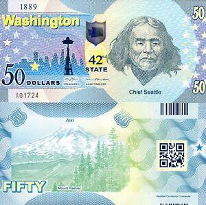 ACC STATE NOTE SERIES: WASHINGTON $50 POLYMER FANTASY ART