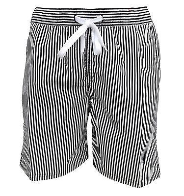 Soul Star Men's Splendor Striped Swim Shorts Black / White