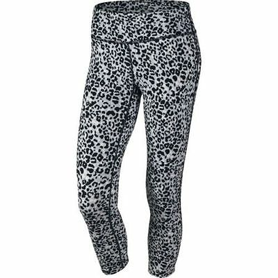 Nike 686049 Women's Epic Run Printed Tight Crops Pants $80 Capris Tights Cropped