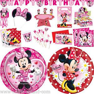 Disney Minnie Kinder Geburtstagsdeko Kindergeburtstag Party