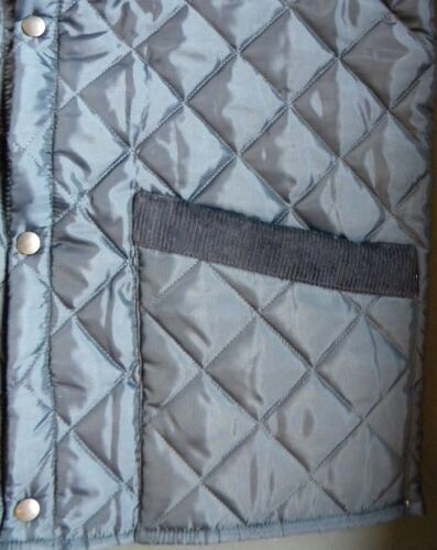 New Made in England Mens Quilted Padded Riding Bodywarmer Waistcoat Gilet Blue