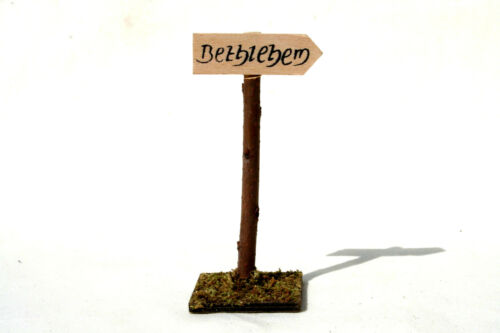 ca 10,5 cm Krippenbau Wegweiser KD-049 Krippenzubehör Bethlehem