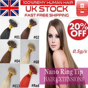 16-034-20-034-0-5GRAM-Nano-Ring-Tip-100-Remy-Human-Hair-Extensions-UK-Double-Drawn-UK