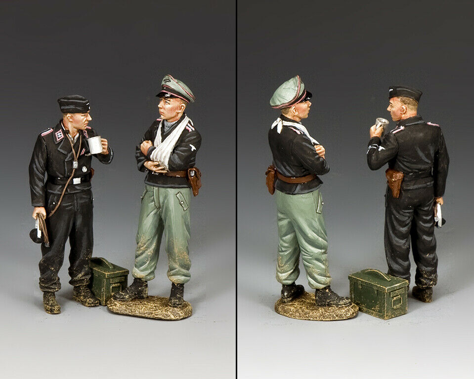 KING & COUNTRY WW2 GERMAN ARMY WS346 DISMOUNTED TANK CREW MIB