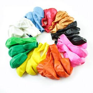 Pack-de-50-10inch-Latex-Helium-Qualite-de-l-039-air-pour-Ballons-Fete-Anniversaire