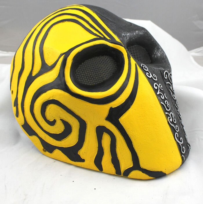 Nice Fiber Resin Wire Mesh Eye Airsoft Paintball Full Face Predection Mask PROP