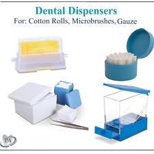 Dental Dispensers For Cotton Roll Microbrushes Dispenser Gauze Sponge Dispenser
