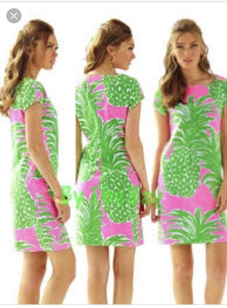 NWT Lilly Pulitzer Loren Dress Pink Pout Pout Pout Flamenco Pineapple tank XS e7abb9