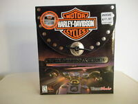 Harley Davidson Race Across America Computer Game (1999) With Mouse Pad
