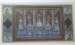 Peinture-miniature-orientaliste-perse-Antique-persian-Old-indian-painting-2