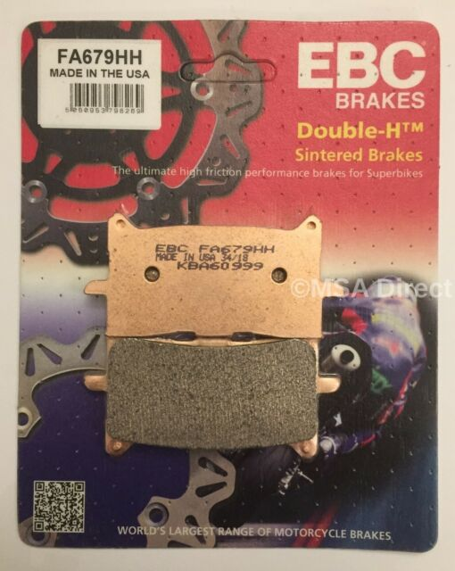 EBC Sintered FRONT Disc Brake Pads (1 Set) Fits HONDA CB125R (2018 to 2021)