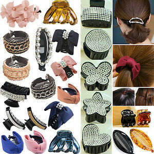 Women-Hair-Claw-Clamps-Clips-Butterfly-Claw-Clamp-BANANA-CLIP-FISH-CLIP-PONYTAIL