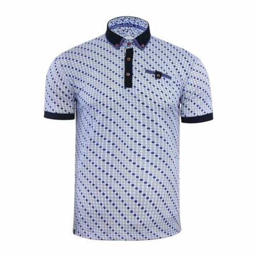 Mens Polo T Shirt  Thomson /& Richards Algate Printed Short Sleeve Collared Top