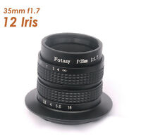 35mm F1.7 Tv Lens For Sony Nex Camera A6000 A5000 A3500 A3000 Nex-5t Nex-5r
