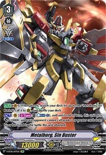 Cardfight Vanguard Metalborg Sin Buster V-BT08//SP17EN SP Near Mint Fast Shippi